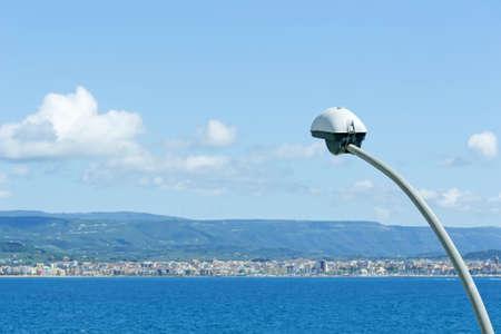 streetlamp: Alghero seascape seen from Fertilia