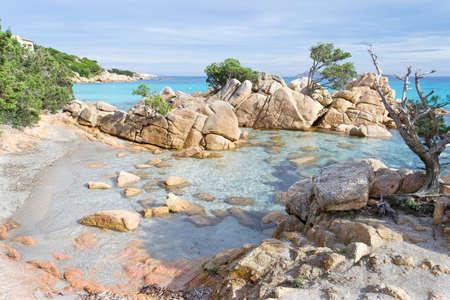sardaigne: d�tail de Capriccioli plage de la Costa Smeralda, Sardaigne Banque d'images