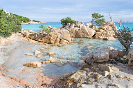 detail of Capriccioli beach in Costa Smeralda, Sardinia