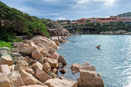 view of Porto Cervo harbor on a cloudy day Stock Photo - 16253685