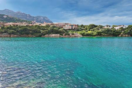 view of Porto Cervo emerald sea