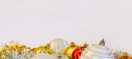 Christmas decoration on white background with copyspace Stock Photo - 16452087