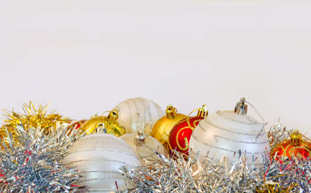 Christmas decoration on white background with copyspace Stock Photo - 16452096