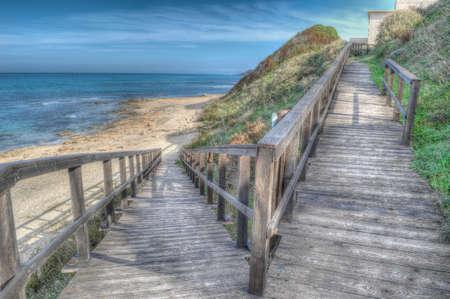 boardwalk in hdr toning photo