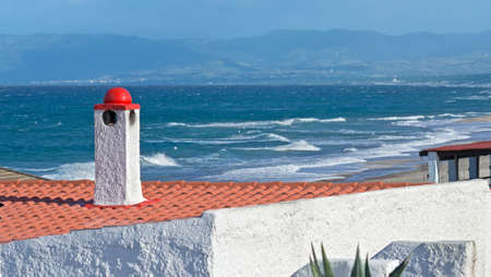 detail of a house roof by the sea Stock Photo - 16965521