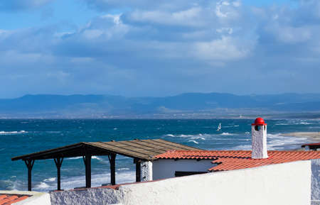 detail of a house roof by the sea Stock Photo - 16965514