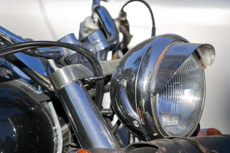 detail of a front motorcycle headlight Stock Photo - 17731417