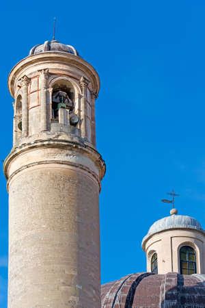 santa maria: closeup of Santa Maria Betlem church in Sassari Stock Photo
