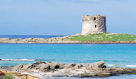 Aragonese tower by the sea in Stintino Stock Photo - 18201415