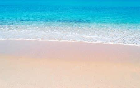 pink paradise beach on a sunny day in Sardinia