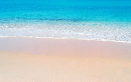 pink paradise beach on a sunny day in Sardinia