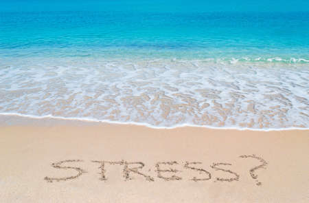 turquoise water and golden sand in Sardinia with stress? writing