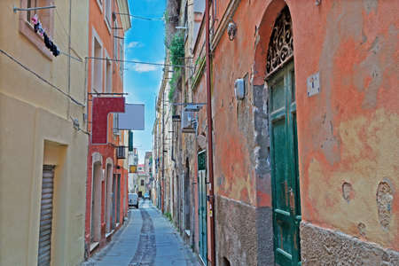 picturesque street in Sassari old town photo