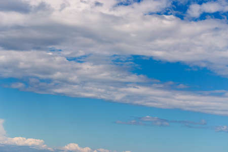 stratus: stratus clouds on a blue sky Stock Photo
