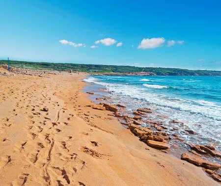 ferro: Porto Ferro beach on a clear day