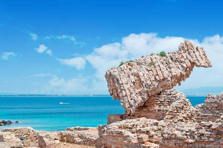 phoenicians: Tharros ruins on a cloudy day Stock Photo