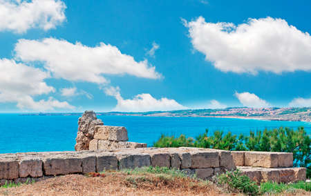 phoenicians: ruins by the sea in Tharros