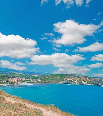 huge clouds over Santa Caterina, Sardinia photo