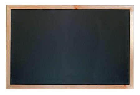 frame wood: empty blackboad on white background Stock Photo