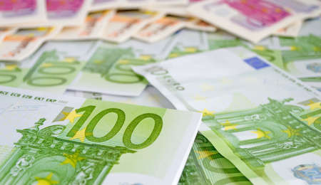one hundred euro banknote: closeup of a one hundred euro banknote