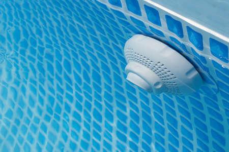 under water pool drain close up Standard-Bild