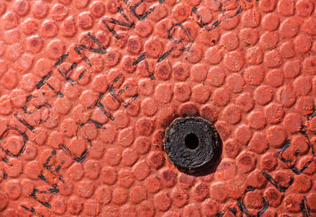 air hole: air chamber hole of an old basketball