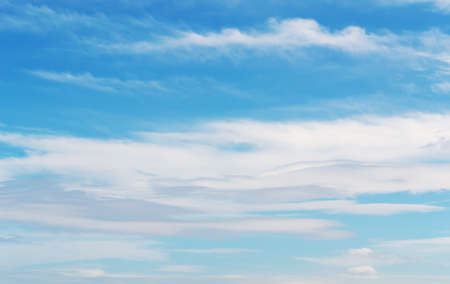 stratus: stratus clouds in a blue sky Stock Photo