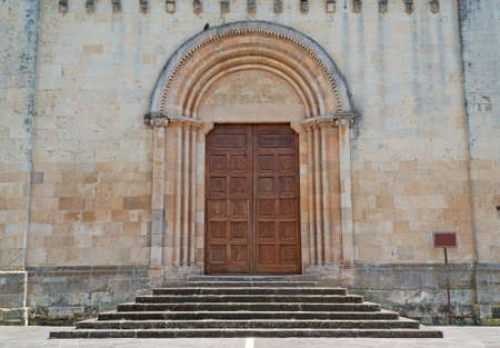 front door of Santa Maria church, Sassari photo