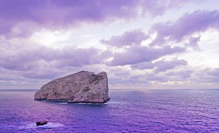 capo: purple sunset in Capo Caccia