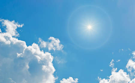 shining sun among the clouds photo