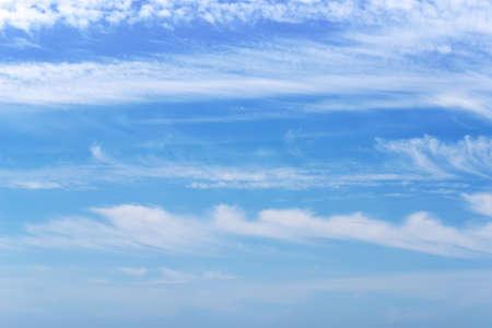 white stripes in the sky Stock Photo