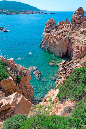 sardaigne: Costa Paradiso c�te rocheuse, Sardaigne Banque d'images