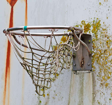 basketball net: old basketball hoop close up Stock Photo