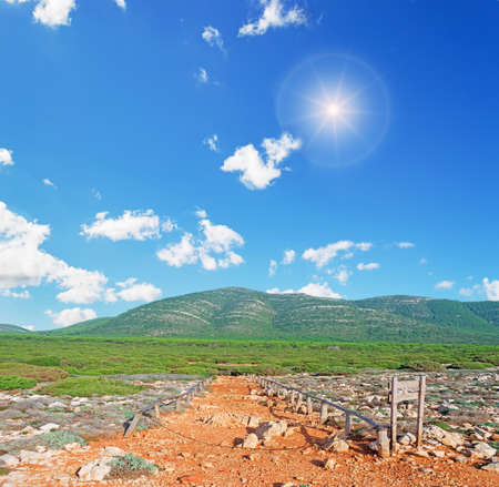 capo: path in Capo Caccia natural park Stock Photo