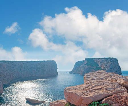 capo: Capo Caccia shore on a cloudy day