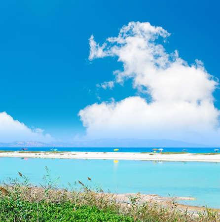 blue pond by Stintino sea