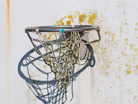 close up of an old hoop photo