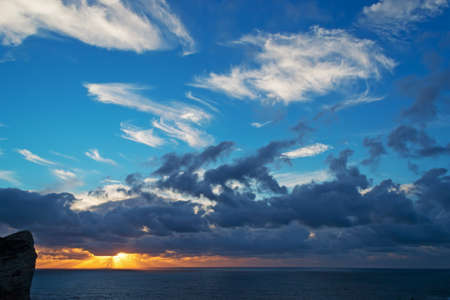 capo: scenic sunset in Capo Caccia, Sardinia