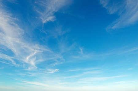 Image of sky: bầu trời xanh với những đám mây trắng