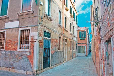 backstreet: backstreet antiguas en Venecia, Italia