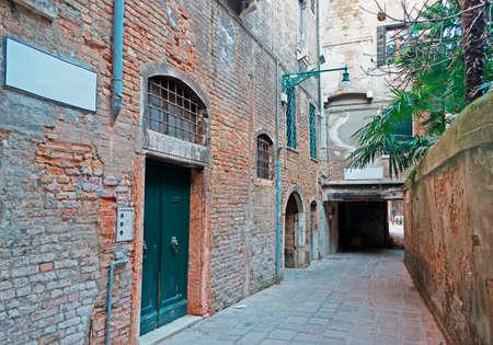 backstreet: viejo Backstreet en Venecia, Italia