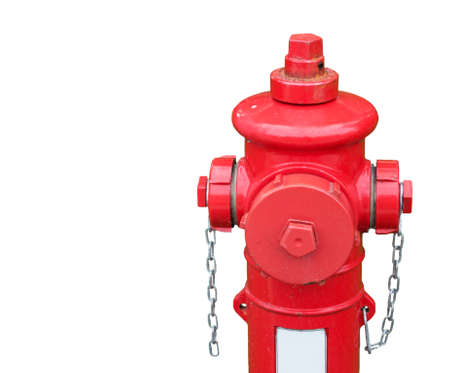 red hydrant isolated on white background photo