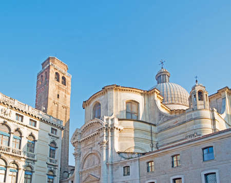 San Geremia steeple and dome in Venice, Italy photo