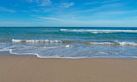 foreshore: small waves in Platamona foreshore Stock Photo