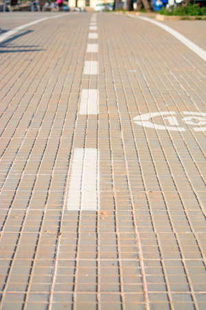 close up of a paved lane on a sunny day photo