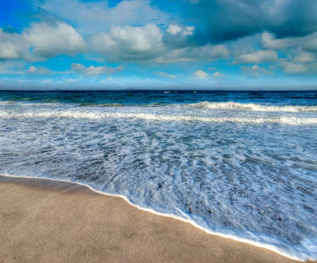 blue shore on a cloudy day photo