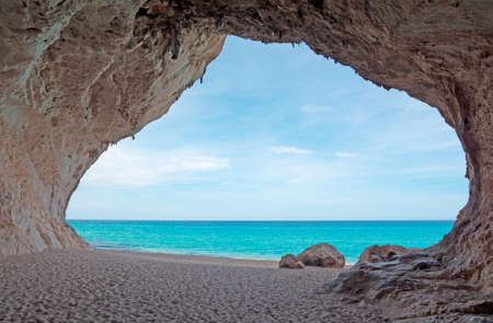 Cala Luna cave by the sea