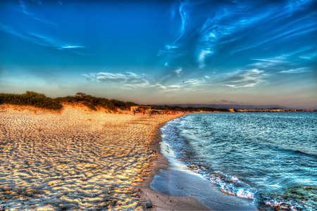 high dynamic range: colorful sunset in Alghero, Sardinia Stock Photo