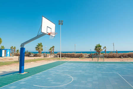 basketball playground in Poetto beach, Sardinia