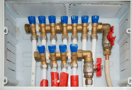 close up of a water system control unit